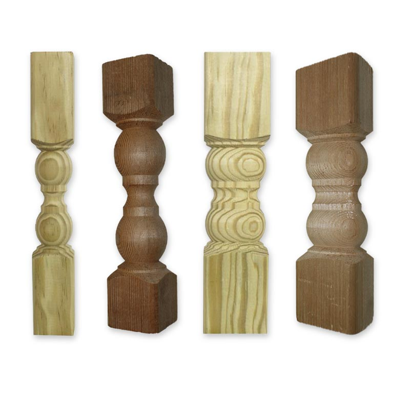 Wood Spindle Tops
