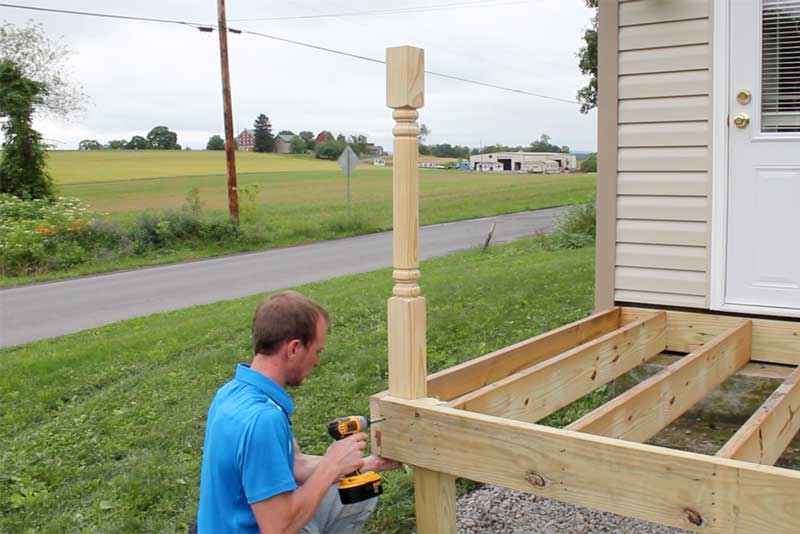 How to Install Deck Posts - Installing the Posts