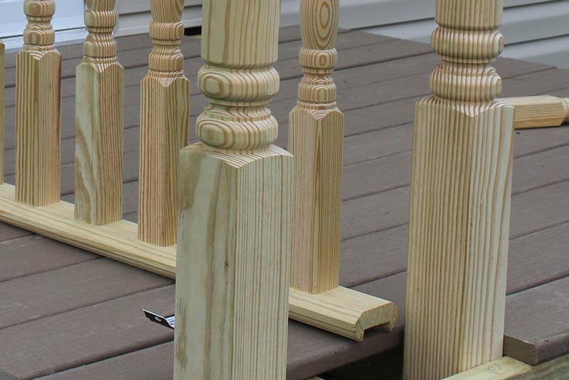 How To Install Handrails and Lattices - Step 2 - Attach Bottom Rail