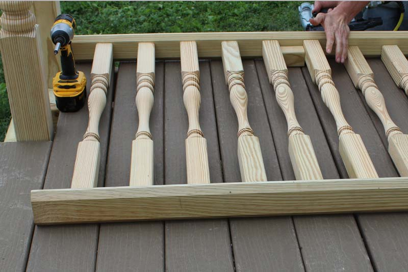 How To Install Spindles Guide - Step 05 - Building the Rail Section